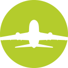 Airline Emporium Airplane Icon Green