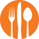 Airline Emporium Fork Knife Orange Icon